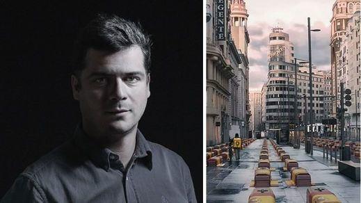 Vox no ha retirado el fotomontaje de la Gran Vía pese al burofax enviado por los abogados de Ignacio Pereira