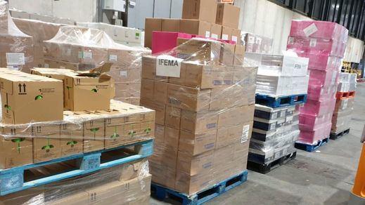 Mercadona, en colaboración con la UME, entrega productos básicos de higiene al hospital de campaña de Ifema