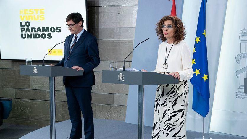 Salvador Illa, María Jesús Montero y Yolanda Díaz