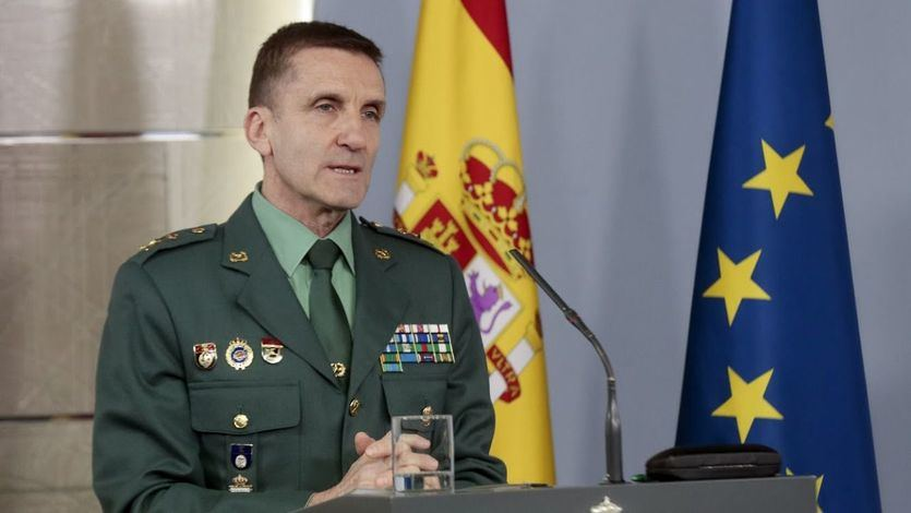 El Jefe del Estado Mayor de la Guardia Civil, general José Manuel Santiago