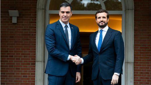 Sánchez y Casado se ponen de acuerdo para hacer pactos de Estado pero bajo supervisión parlamentaria