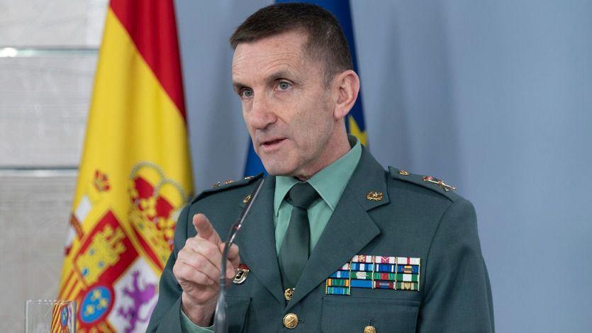 El Jefe del Estado Mayor de la Guardia Civil, general José Manuel Santiago