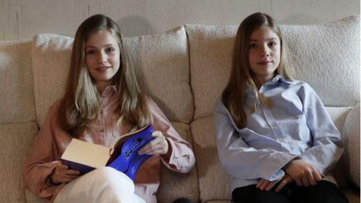 Las hijas de los reyes lanzan un mensaje a los niños por el confinamiento