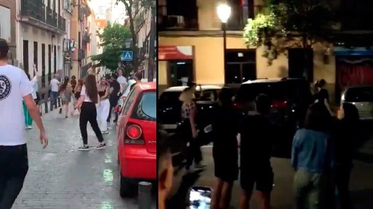 Gente de fiesta en Madrid en pleno estado de alarma
