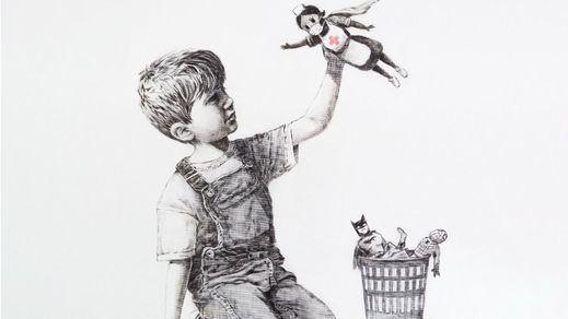 Banksy reaparece con un homenaje a los héroes del coronavirus