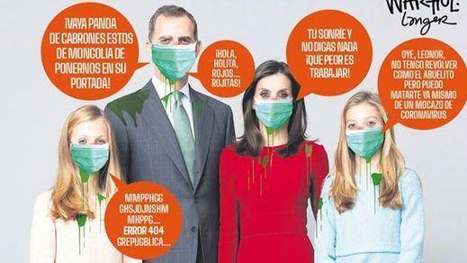 La revista 'Mongolia' la vuelve a liar: así retrata a la Familia Real en su portada con la