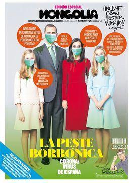 La revista 'Mongolia' la vuelve a liar: así retrata a la Familia Real en su portada con la 'peste borbónica'