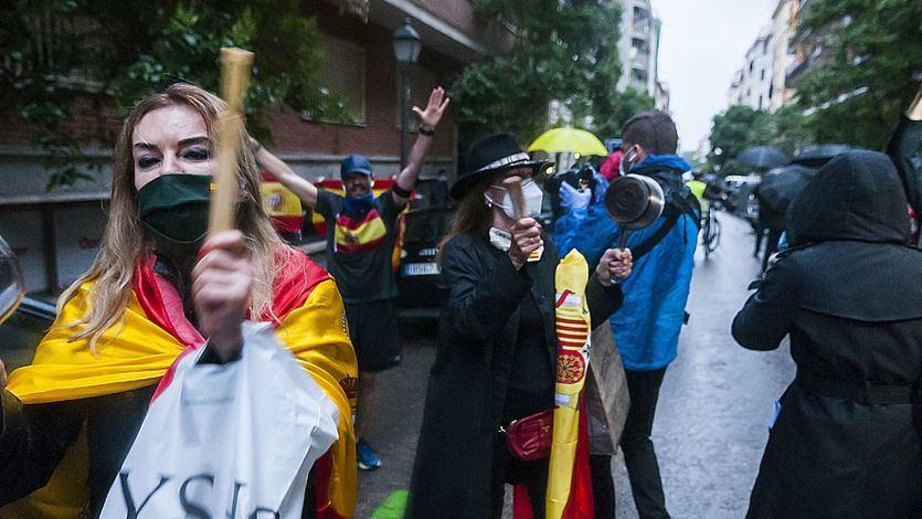 Más protestas en la calle contra el Gobierno en los barrios más ricos de Madrid