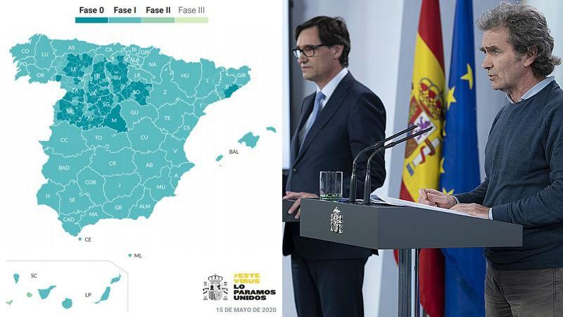 Madrid continuará en fase 0; Barcelona también por deseo propio; la C. Valenciana, Andalucía y Castilla-La Mancha pasan a fase 1
