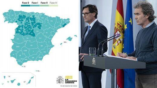 Madrid continuará en fase 0; C. Valenciana, Andalucía y Castilla-La Mancha pasan a fase 1
