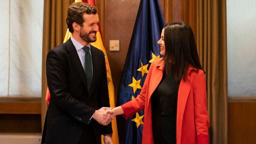 Casado y Arrimadas calman las aguas en las relaciones entre PP y Ciudadanos y pactan seguir juntos en las elecciones vascas