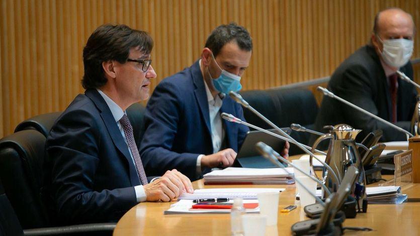 Ministro de Sanidad, Salvador Illa, en el Congreso