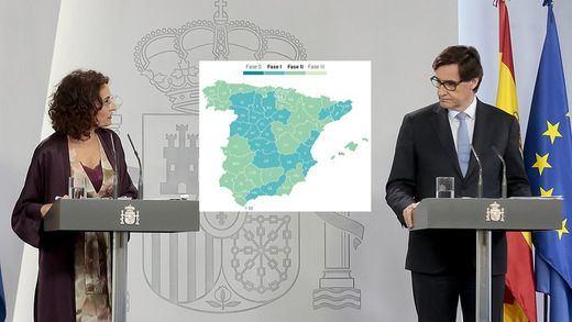 España avanza en la desescalada: todos los territorios están en fase 1 o en fase 2