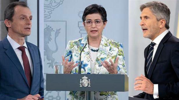 Ministros Duque, González Laya y Grande-Marlaska