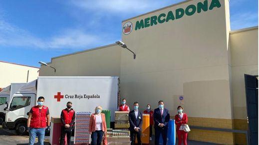 Mercadona dona a Cruz Roja de Parla más de 2,5 toneladas de alimentos de primera necesidad
