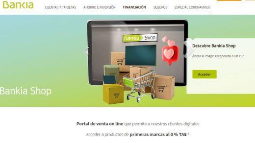 Bankia lanza un portal de ventas online de productos de electrónica con financiación al 0%