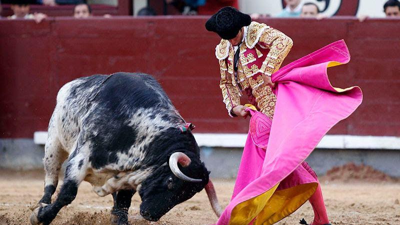 Morenito lancea a la verónica al toro al que cortó una oreja