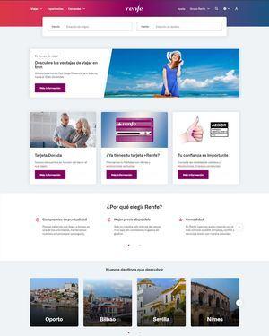 Renfe estrena diseño de su web con mejoras en la navegabilidad y usabilidad