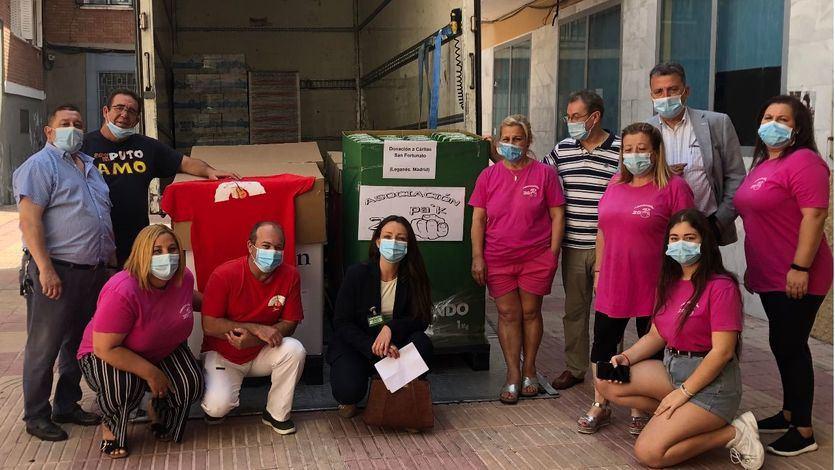 Donación de Mercadona a Cáritas La Fortuna (Leganés)