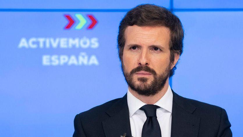 Casado arremete contra Sánchez por afirmar que 'nunca' ha pensado en la gran coalición con el PP