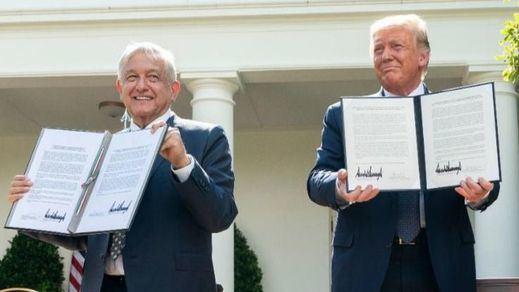 Reunión de guante blanco entre López Obrador y Trump con halagos para los inmigrantes mexicanos