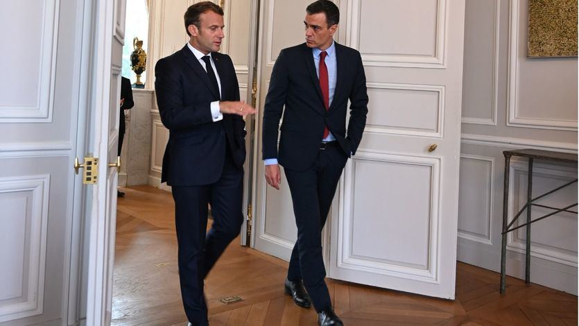 Emmanuel Macron y Pedro Sánchez