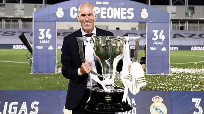 Zidane levanta su título 11º como entrenador del Real Madrid: gana uno cada 19 partidos