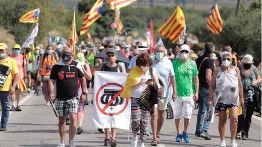 Los Reyes se topan con las protestas en su visita a Cataluña