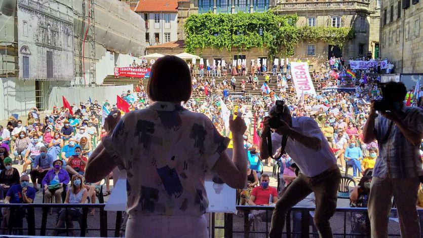 Ana Pontón (BNG): 'Galicia no tiene rey... no hay un botafumeiro que cubra podredumbre'