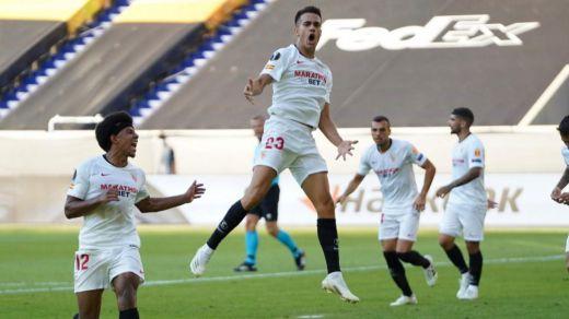 El Sevilla pasa a cuartos de la Europa League tras eliminar a la Roma (2-0)