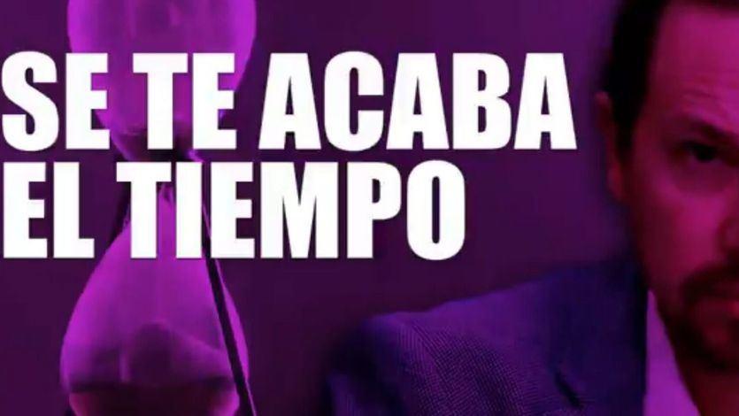 'Pablo Iglesias, se te acaba el tiempo, TIC, TAC...': el contundente mensaje del PP a Podemos