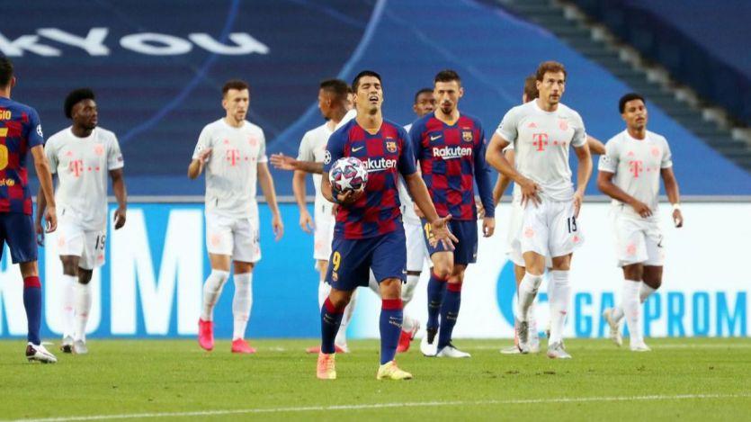 El Barça protagoniza la noche más oscura de su historia en el peor momento (8-2)