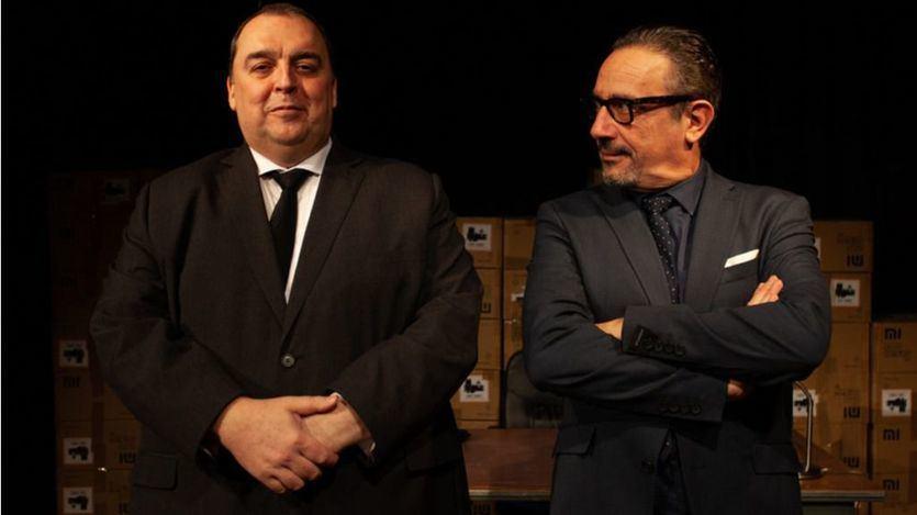 Julián Valcárcel, a la izquierda, y Fernando Ascaso son los actores de 'La venganza del señor Pellicer'