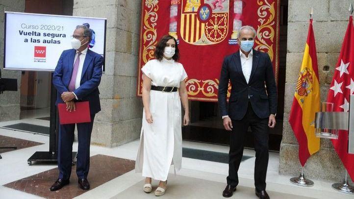 Madrid plantea una 'vuelta al cole' presencial hasta 2º de la ESO y menos alumnos