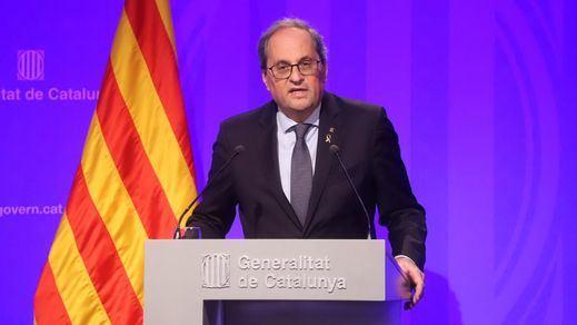 Torra abre la puerta a solicitar el estado de alarma y ayuda del Ejército en Cataluña