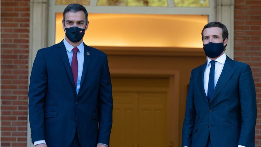 Pedro Sánchez y Pablo Casado