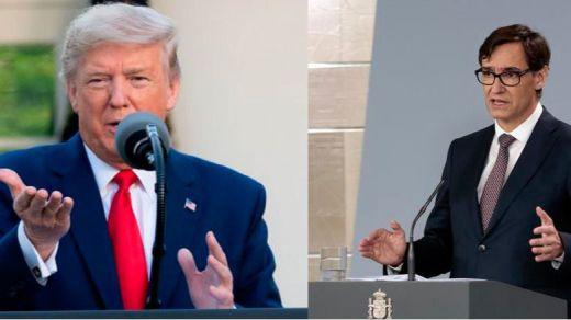 Trump vuelve a hablar mal de España por la gestión del coronavirus y el ministro Illa le contesta