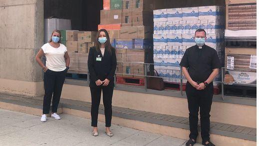 Mercadona dona a Cáritas Arroyomolinos y Loranca (Fuenlabrada) más de 7 toneladas de productos de primera necesidad