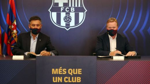 El Barça no puede inscribir jugadores ni sentar a Koeman en el banquillo mientras no pague a Setién