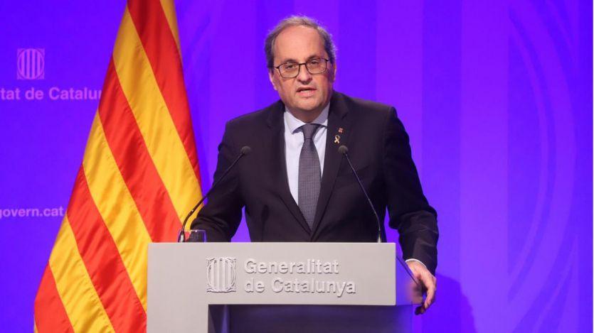 Torra responsabiliza al Estado de llevar a Cataluña a las urnas con su eventual inhabilitación en el Supremo