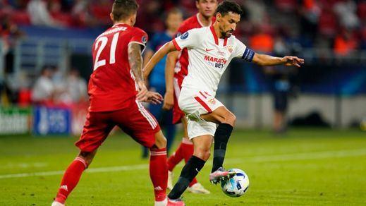 Un gran Sevilla resiste al Bayern casi hasta el final pero cayó en la prórroga de la Supercopa europea (2-1)