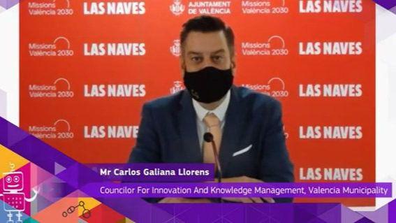 Concejal valenciano de innovación, Carlos Galiana