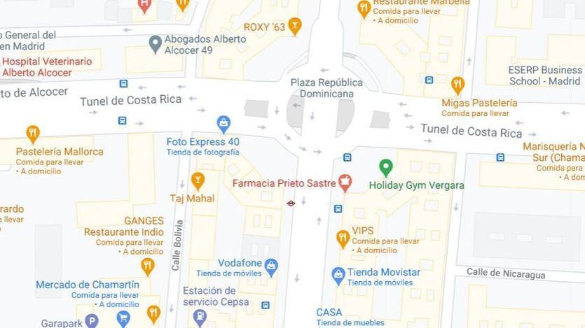 Calle Príncipe de Vergara 285, lugar del accidente (Foto: Google Maps)