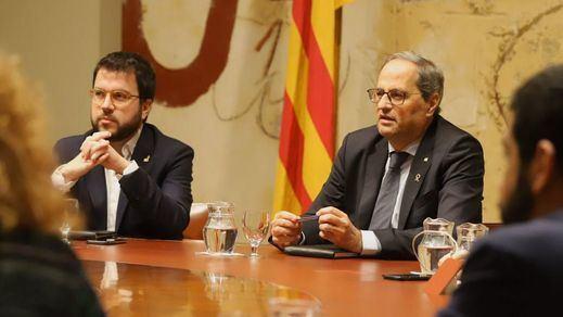 Más madera, es la guerra: Cataluña se prepara para la inminente inhabilitación de Torra y un cambio de president