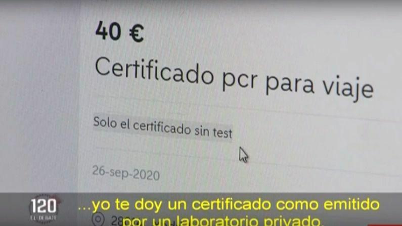Increíble pero cierto: pillados vendiendo certificados de PCR negativos para poder viajar