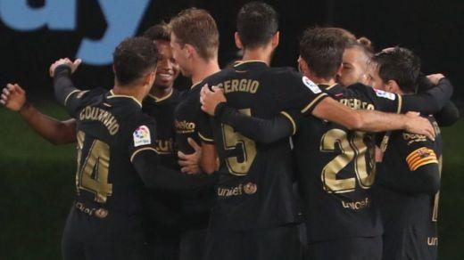 Ansu Fati sigue en estado de gracia y el Barça golea al Celta incluso con 10 (0-3)