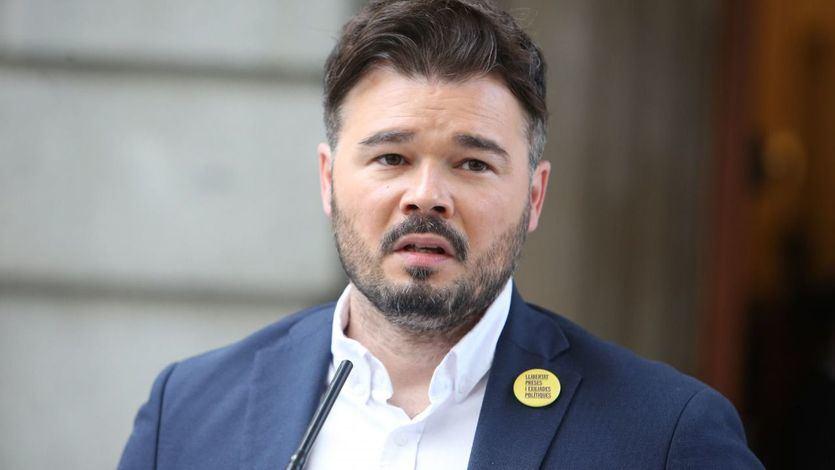 Rufián vaticina que Vox entrará en el Parlament y acusa a los de Abascal de 'traficar con el virus'
