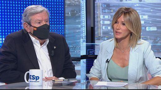 Susto en 'Espejo Público': al exministro Corcuera le salta el desfibrilador en directo
