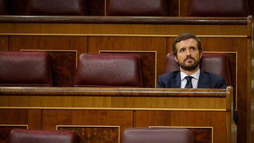 Casado y la incógnita sobre la posición del PP ante la moción de censura de Vox