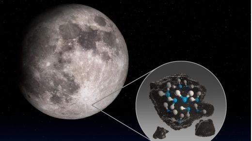 La NASA confirma el hallazgo de agua en la Luna
